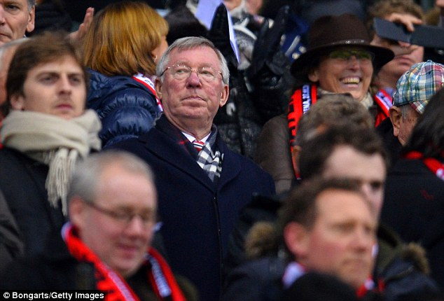 Watching brief: Fergie has been consigned to the stands after quitting as United boss last year