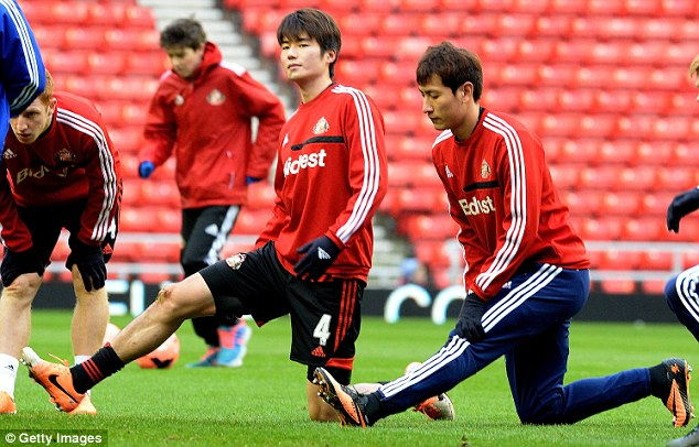 Standing out: Ki Sung Yueng (C) has impressed during his time on loan at the Stadium of Light