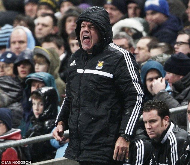 Fighting on: Allardyce's job is under threat after five defeats in six matches