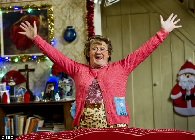 High ratings: The 2012 Christmas Eve special of BBC comedy Mrs Brown's Boys attracted 2.89 million viewers via catch-up, with a further 2.75million watching an episode from February 4 2013