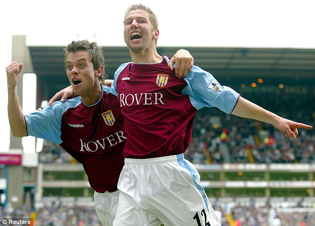 Hero for the Villans: Hitzlsperger enjoyed a successful spell at Aston Villa and West Ham
