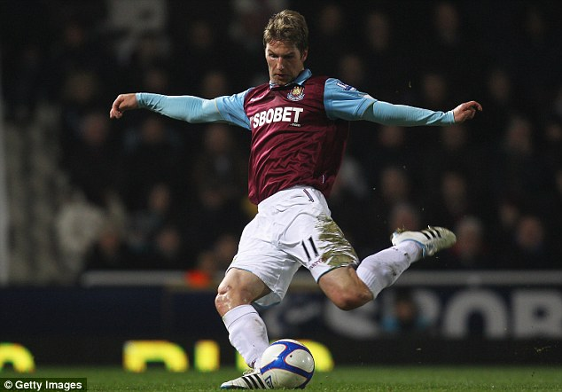 Der Hammer: The midfielder also played for West Ham for a short time