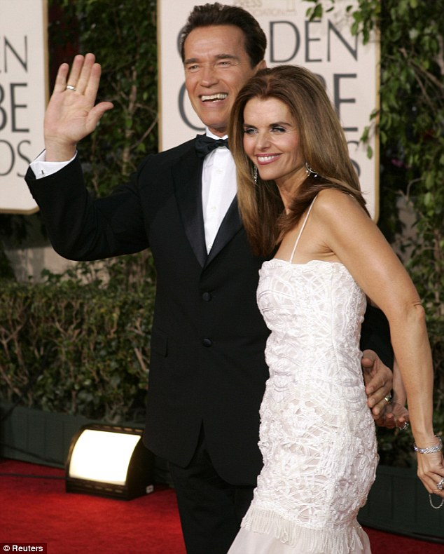 The break up: Arnold Schwarzenegger and his wife Maria Shriver (seen here in happier times in January 16, 2005) filed for divorce in July 2011