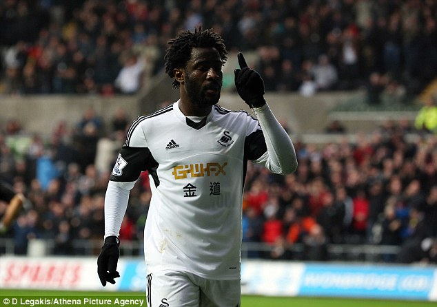 On the up: Bony has scored 13 goals already this season, his first in English football