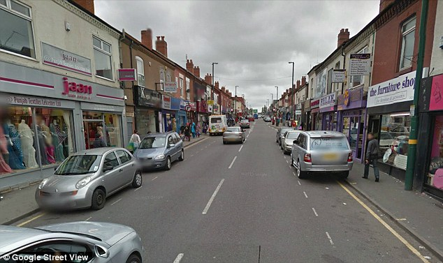 Slaves: Four men were found at Vasilica Panaghita's address in Birmingham, police said. It is believed they had been there for about a year. (Pictured: a general view of part of the street)