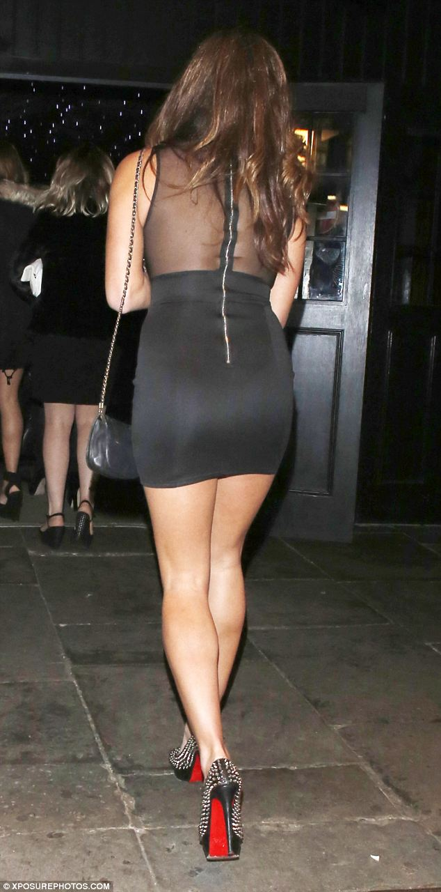 Looking good: The tight-fitting dress showed off Pascal's curves to perfection