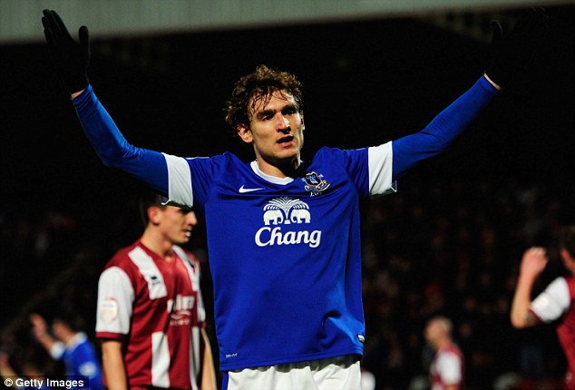 Give me a chance, boss! Jelavic has made just five Premier League starts this season