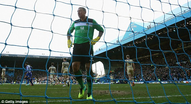 Leaky: Leeds haven't won in eight games, one of which was a 6-0 defeat to Yorkshire rivals Sheffield Wednesday