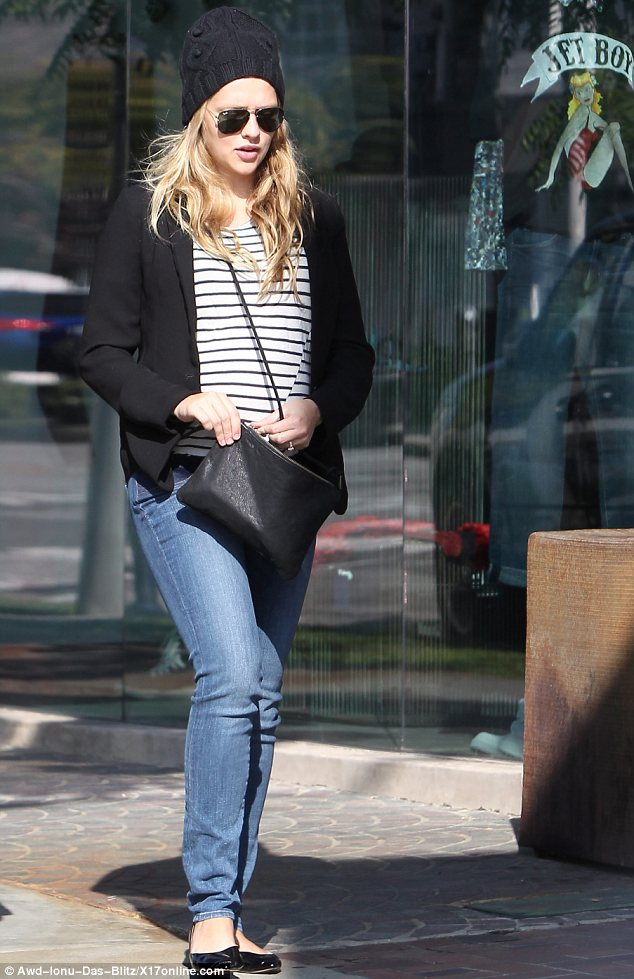Almost time! Teresa Palmer nears the end of pregnancy as the actress heads to Beverly Hills for a few last-minute baby goodies on Friday