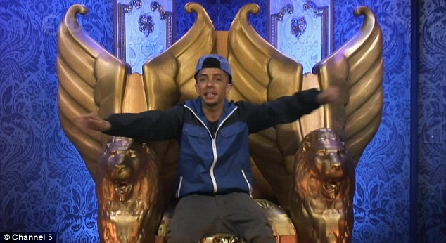 Tiny temper: Dappy spoke out to Big Brother about his argument with Luisa, before eventually apologising