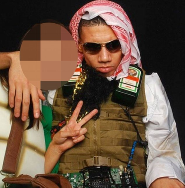 Jagerbomber: Chris Smalling in ill-advised fancy dress outfit