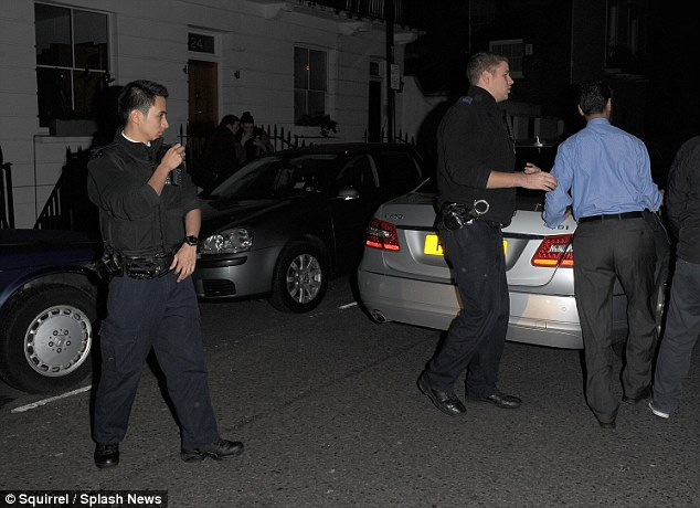 Escort: The actress received a police escort from the house to her next destination