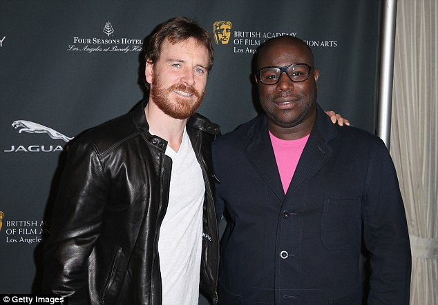 What a team: Michael Fassbender and Steve McQueen attend the BAFTA event together. The Irish-German actor has starred in everyone of the director's feature films