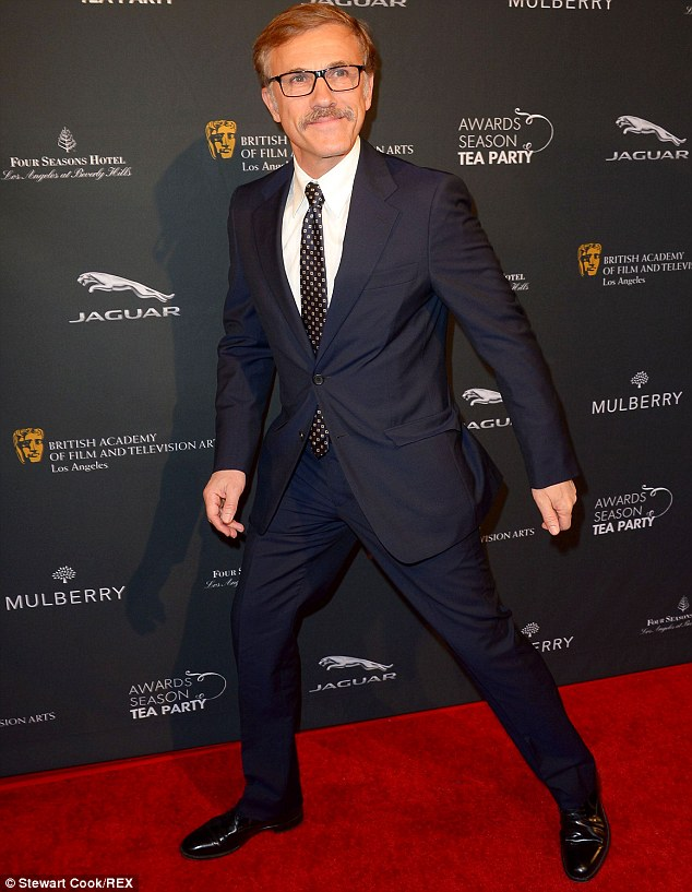 Not this time Christoph: Waltz isn't up for any awards this season, but still enjoys the parties