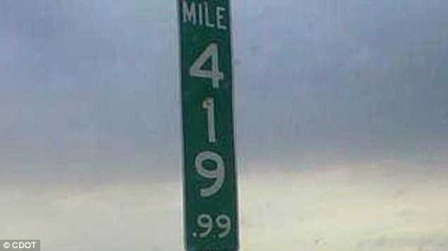 Marked change: The new Mile 419.99 signs on Interstate 70 in Colorado