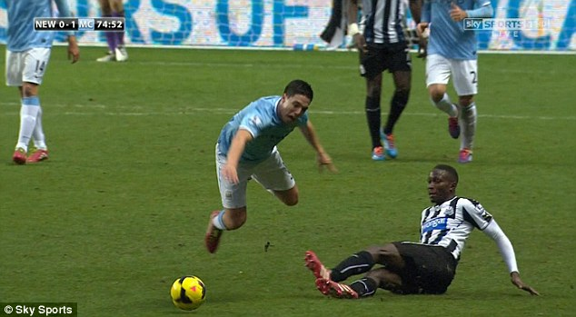 Mission accomplished: Nasri ended up flying in the air as a result of the horror challenge