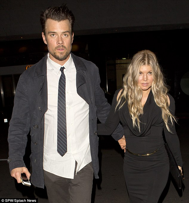 Special evening: Josh and his wife Fergie celebrated their fifth wedding anniversary at Mr. Chow on Friday night in Beverly Hills