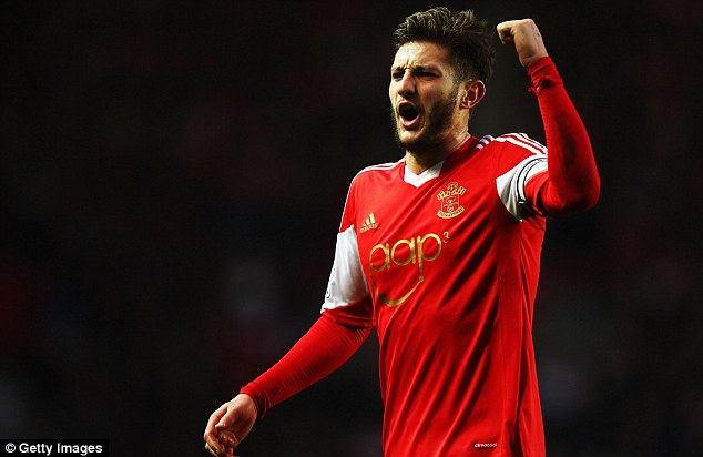 Boy for Brazil: Adam Lallana has produced a number of eye-catching performances for Southampton