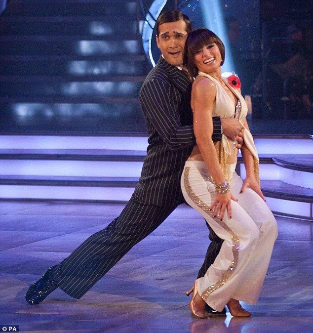 Engaged: Mistry during his stint on Strictly Come Dancing in 2010 with dancer Flavia Cacace, now his fiancée