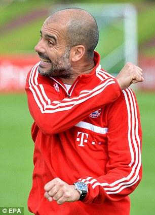 Bayern Munich coach Pep Guardiola