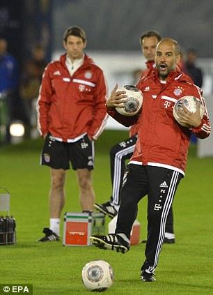 Pep Guardiola takes Bayern Munich training