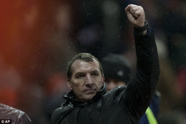 Soft: Liverpool boss Brendan Rodgers called the awarding of the foul a 'Spanish penalty'