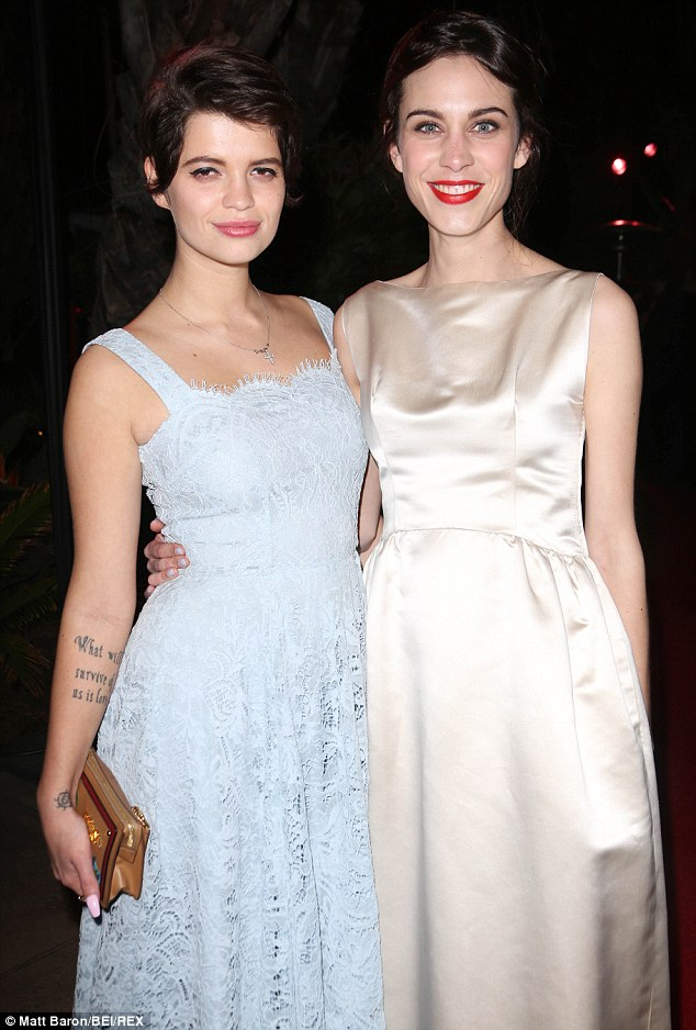 Pixie Geldof and Alexa Chung look suitably demure at the InStyle/Warner party