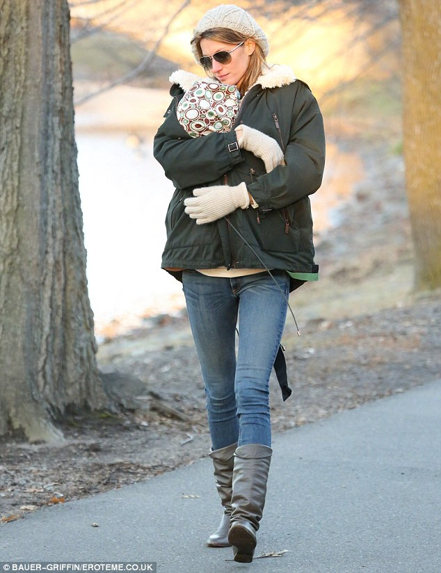Other half: But Gisele and baby Vivian were missing from the park date