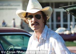 Extreme role: Matthew McConaughey was named Best Actor in a Drama for Dallas Buyers Club