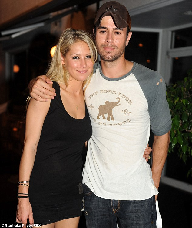 Going strong: Anna and Enrique endured recent break-up rumours