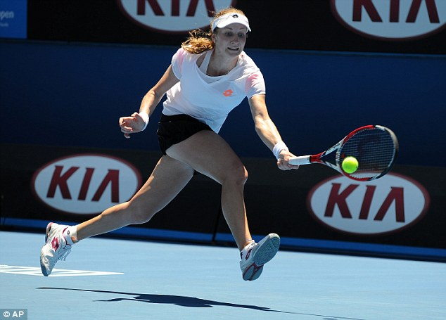 Gliding through: Ekaterina Makarova recovered from a set down to beat Williams in three sets