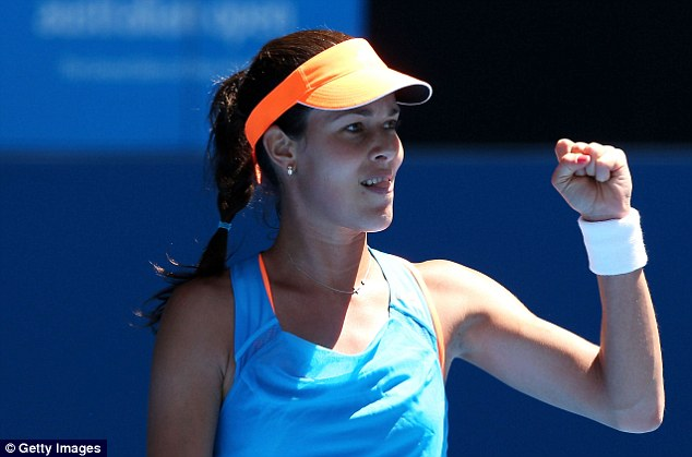 All smiles: Serbian Ana Ivanovic, the No 14 seed, beat Kiki Bertens in straight sets