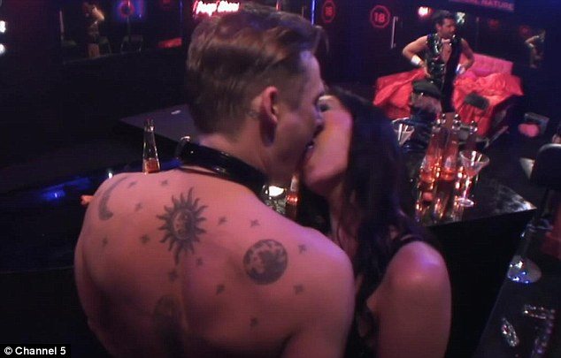 Unaware: Duncan insisted Lee is not aware of the way he is coming across on screen, kissing both Jasmine Waltz (pictured) and glamour model Casey Batchelor
