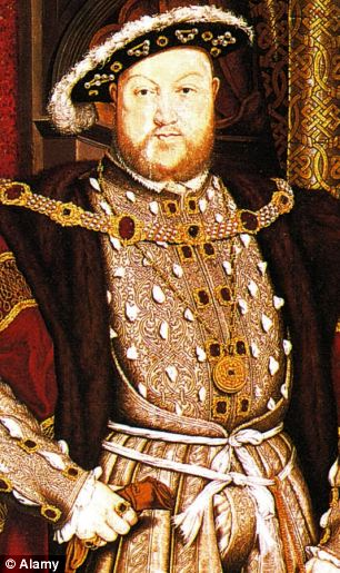 Relative: Henry VIII is 47-year-old Mr Blackmore's 7th cousin 15 times removed