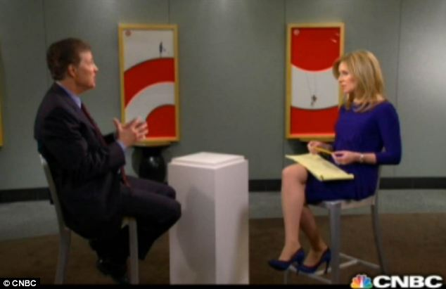 Promises: He vowed to improve the company as he spoke with CNBC's Becky Quick in the interview