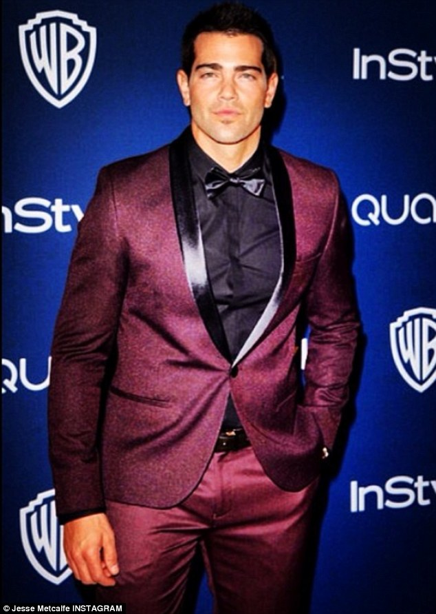 He's a Top Man: Jesse posted an Instagram snap of his suit, chosen from British label Top Shop's line for men
