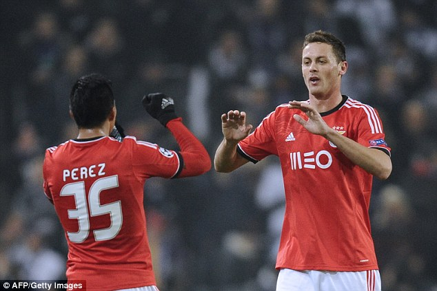 Wanted: Nemanja Matic (right) is expected in London to complete a move back to Chelsea