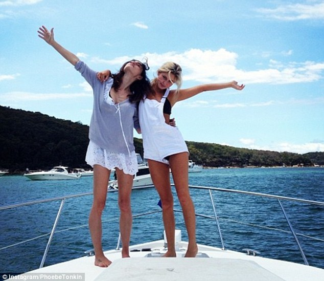 On a boat: The Australian actress just recently celebrated the Christmas holidays in Australia with her family members, including sister Abby