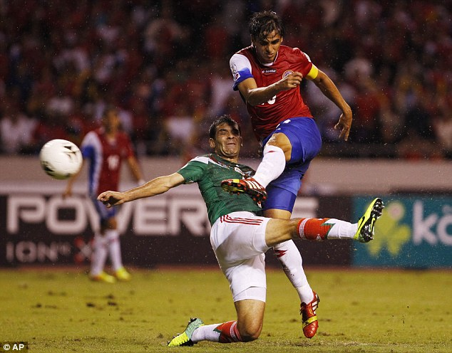 First team: The Costa Rica forward has struggled for opportunities since Rene Meulensteen has taken over