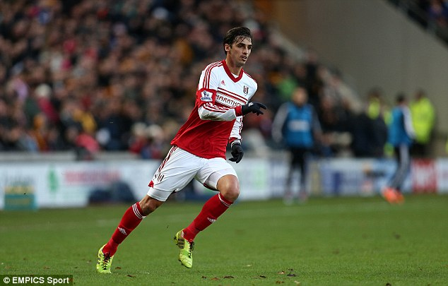 Heading to Holland: Fulham's Bryan Ruiz is being allowed to leave for PSV on loan for the rest of the season