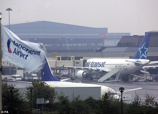 Spotted: The two pupils were last seen in the terminal building at Manchester Airport