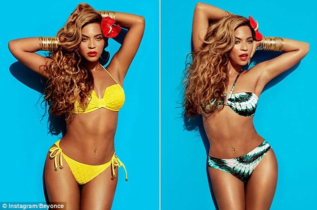 Red hot mama! Looks like all those expensive spa treatments have been paying off in these hot bikini pix of Queen B
