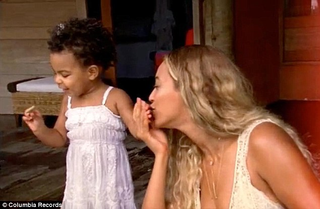 Blue is the warmest colour! A touching scene from Beyonce's music video for the song dedicated to her daughter called, of course, Blue