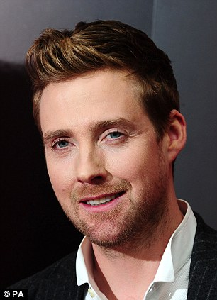 Who's a pretty boy:  New The Voice mentor Ricky Wilson has changed his hair, teeth and even his eyelashes seem more apparent no, and right, his former look pictured in 2012