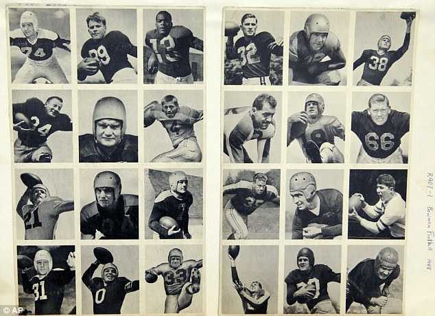 Trendsetting: This 1948 rare uncut set of Bowman football trading cards ushered in the modern era of football cards