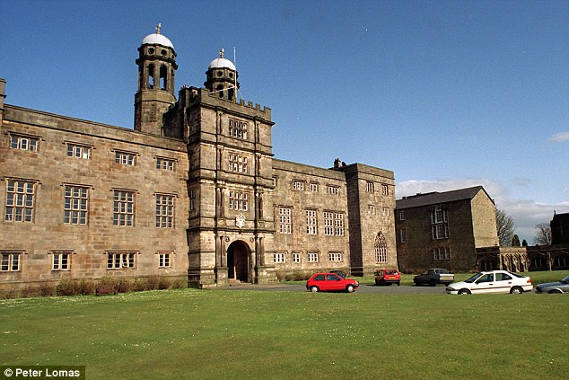 Sneaked out: The sixth-formers, who are said to be dating, left the Stonyhurst College in Clitheroe, Lancashire, at night after telling friends they were sick of the rainy weather