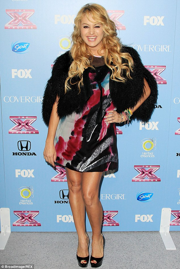 Legal trouble: Mexican pop star Paulina Rubio is allegedly suing Telemundo for reneging on a deal, pictured in LA in November