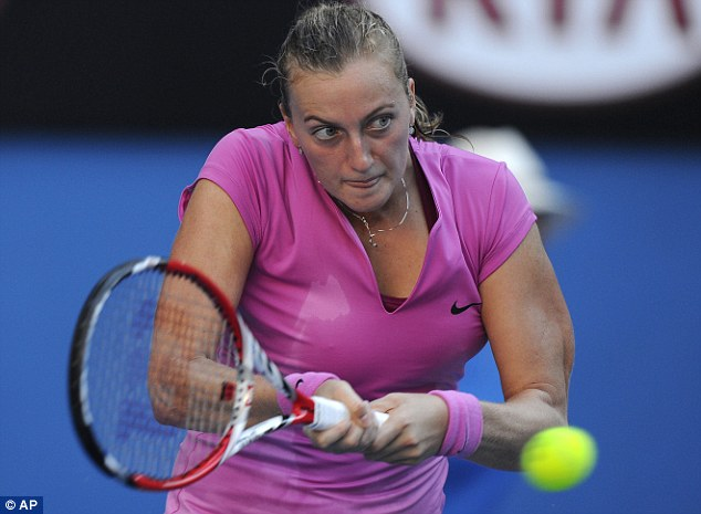 Shocked: Former Wimbledon champion Petra Kvitova was knocked out on the opening day