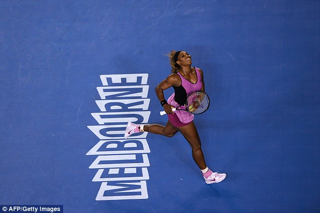 Racing through: Serena Williams opened her Melbourne campaign with a ruthless win over Ashleigh Barty