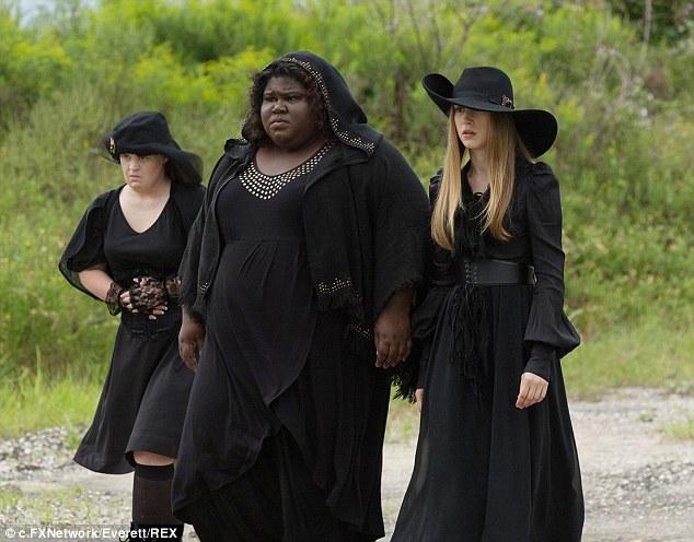Doing it for herself: l-r: Jamie Brewer, Gabourey Sidibe, Taissa Farmiga seen here in American Horror Story, Series Three